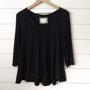 Anthropologie DELETTA Black Swing Top Medium